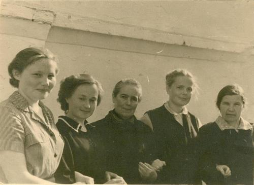 Коллектив библиотеки в 50-60-е гг