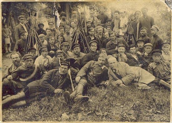 Бойцы Теребиловской боевой дружины под командованием Николая Гурьяновича Сормаха