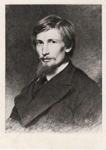 И. Н. Крамской. Портрет Виктора Васнецова. 1874.