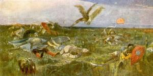 """""""После побоища Игоря Святославовича с половцами"""" (1880)."""