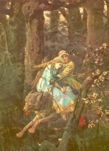 """""""Иван-царевич на сером волке"""" (1889)."""