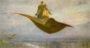 """""""Ковер-самолет"""" (1879)."""