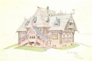 """""""Изба. Проект дачной постройки"""" (1898)."""