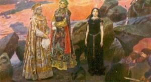 """Три царевны подземного царства"" (1884)."