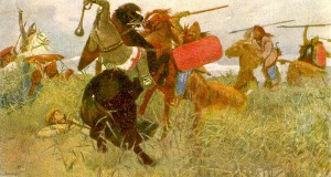 Битва славян со скифами. 1881.