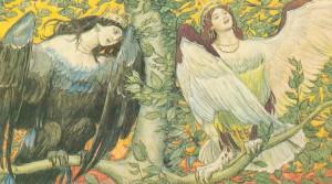 """Открытка """"Сирин и Алконост"""". 1896."""