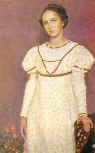 Портрет О. В. Васнецовой. 1912.