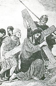 Ксерокопия открытки Несение креста.
