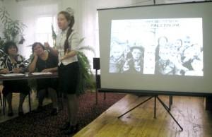 Панова Светлана, учащаяся 6 «а» класса школы № 3 г. Уржума со стихотворением «Экскурсия в Саласпилс».