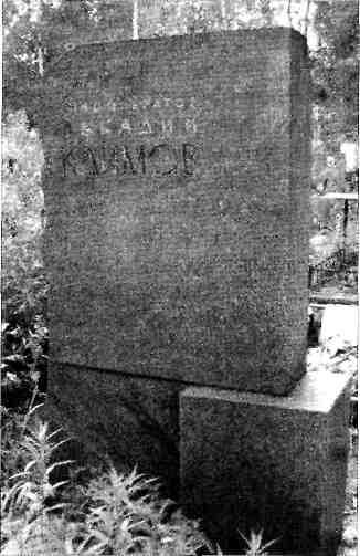 Памятник на могиле А. А. Климова