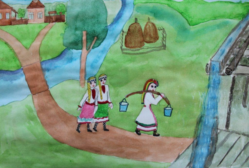 """Иллюстрация к сказке """"Как Лаймыр воду обидел"""""""