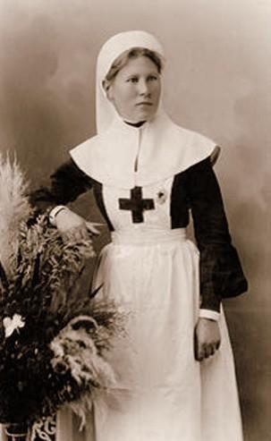 Анна Полянская, сестра милосердия. 1915 год