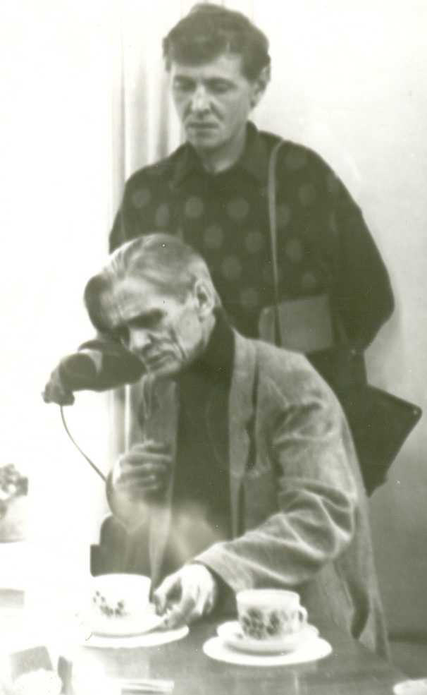 О. М. Любовиков и корреспондент М. Юнусов.