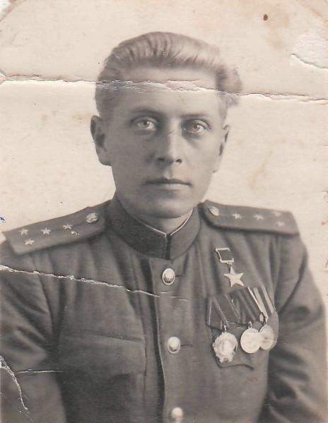 Яков Урванцев в конце войны.